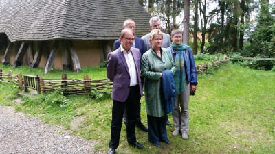 v.l.: Karl Banghard, Moritz Ilemann, Sylvia Löhrmann, Dirk Becker, Manuela Grochowiak-Schmieding