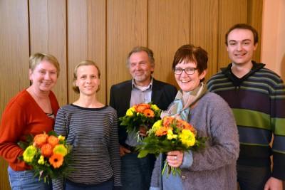Der neue OV-Vorstand: (v.l.) Ulrike Meusel, Mandy Eilenstein, Siegfried Bittner, Dagmar Allmendinger, Niklas Riesmeier