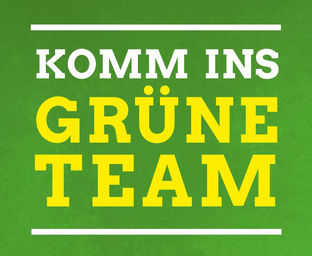 Komm ins Grüne Team