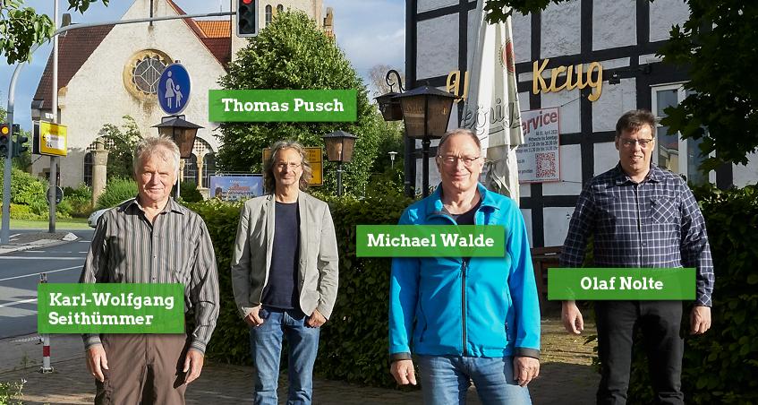 Unsere vier Kandidaten für Helpup