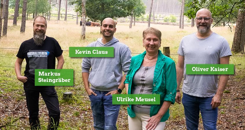 Unsere vier Kandidat:innen für die Südstadt