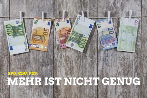 SPD, CDU, FDP: Mehr ist nicht genug